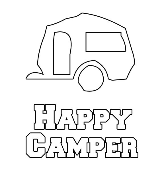 happy camper coloring pages - photo#4